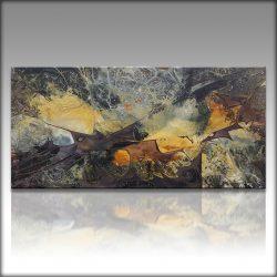 """""""In the Begining"""" Prachtige Acrylcreatie van Gia Hung , comp[leet opgespannen op frame, klaar om op te hangen, afmeting 100 cm x 50 cm . € 149,-"""
