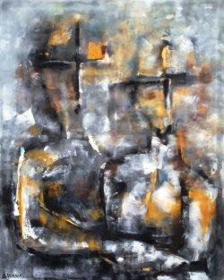 """"""" Holding on to you """"  Prachtig Acrylschilderij van Suzanne Visser , afmeting 100 cm x 80 cm € 695,-Deze kunstenaar werd op 23 maart 1972 geboren in Oostburg. Na de opleiding aan academie St. Maria in Antwerpen (modeontwerpen en illustreren) te hebben afgerond, werd de studie vervolgd aan Kunstacademie St. Joost in Breda. In 1996 afgestudeerd, in de richting illustreren. Hierna werkzaam als o.a. als illustrator en grafisch ontwerper. Na verloop van tijd maakte het illustreren plaats voor het schilderen op doek, mede door de vele positieve reacties. Verkoop vanuit luxe interieurzaken en exposities hebben meer bekendheid gegeven.Vraagprijs  € 695,-Door het werk heen is een duidelijke evolutie zichtbaar. De schilderijen krijgen een steeds grotere mythische, bijna spirituele diepgang. Wie lang naar een van de doeken kijkt, ontdekt steeds weer nieuwe details en verborgen boodschappen. Soms is het werk ingetogen en bezinnend, dan weer uitbundig en humoristisch. Sommige schilderijen ogen traditioneler en andere zijn weer ware krachtexplosies. https://www.svisser.nl/"""