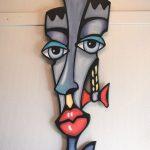 """"""" Sven """" is een Prachtige Originele Abstract Sculptuur van Acryl op MDF panel van Oleg van de studio Nordic Angels uit Duitsland , Oleg is een autistische kunstenaar, bij deze sculptuur is een certificaat van echtheid aanwezig en gesigneerd op de achterzijde , ,totale afmeting 115 cm x 35 cm. € 395,00"""