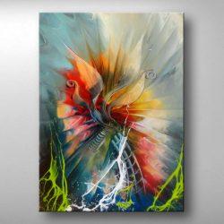 """""""First Burst of Colors """" is een Prachtig Acrylschilderij van illias uit Neuss (Dld) , het schilderij is compleet gespannen op frame, klaar om op te hangen, afmeting 50 cm breed x 70 cm hoog. € 189,00"""