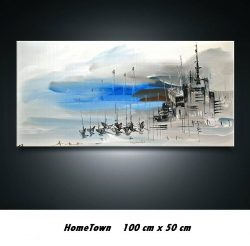 Artist: R.EckelTitle: Home TownMedium: Acryl on canvasOpgespannen op frame .Size: 100 cm x 50 cm . € 249,00