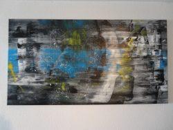 """""""Imagination """" is een acrylschilderij van R.Prein (oostenrijk) het is compleet gespannen op frame, klaar om op te hangen, tevens zijn de zijkanten mee geschilderd. Afmeting 150 cm breed x 80 cm hoog. € 295,00"""