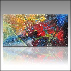 """"""" Mixed Up """" is een prachtig handgeschilderd Acrylschilderij van Gia Hung, het is compleet gespannen op frame, klaar om op te hangen, afmeting 120 cm x 60 cm. € 189,00"""
