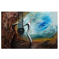 """"""" Music """" is een prachtig (hand gemaakt) Oilschilderij van Maitreyii uit Dallas Texas, Verenigde Staten , het is compleet gespannen op frame ,klaar om op te hangen, het werk is voorzien van een beschermende vernislaag en gesigneerd door Maitreyii op de achterzijde, afmeting 120 cm breed x 80 cm hoog. € 249,00"""