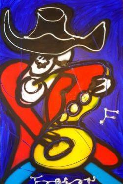 Title: Mr.SaxArtist: FabianMedium: Acryl on canvasOpgespannen op een 4 cm dik frame van hoge kwaliteitSize: 120 cm x 80 cm x 4 cmAan de voorzijde hand gesigneerd . € 249,00
