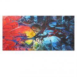 """"""" Colorsplash """" is een prachtig handgeschilderd Acrylschilderij van Gia Hung, het is compleet gespannen op frame, klaar om op te hangen, afmeting 120 cm x 60 cm. € 189,00"""