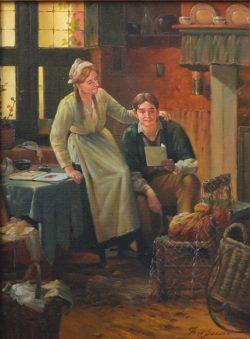 """"""" Interieur """"  prachtig Olieverfschilderij van Theo van der Smissen (1932-1995) 40 cm x 30 cm .Gesigneerd aan de rechter onderzijde. € 249,00"""