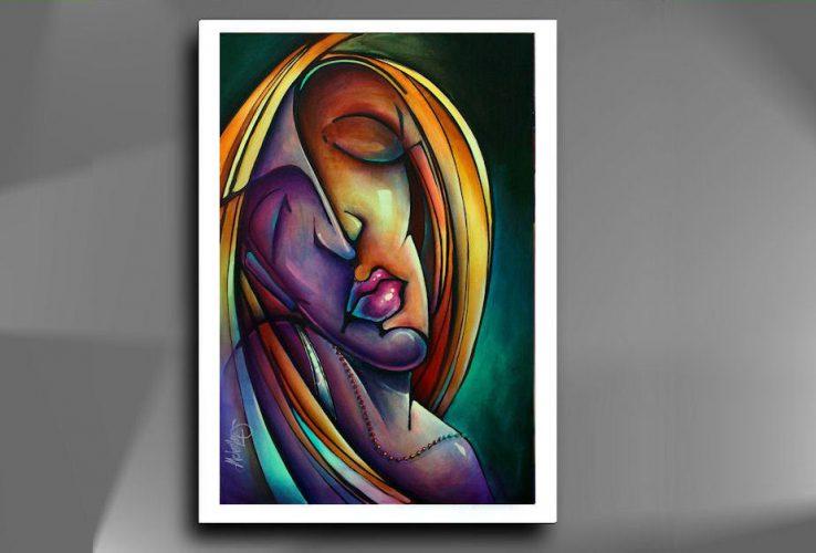 """"""" Mary """" Prachtige Giclee op hoogwaardig papier, afmeting 48 cm x 33 cm , deze giclee kunt u zelf inlijsten geheel naar uw eigen keuze wat kleur  betreft die bij uw interieur past, € 69,-"""