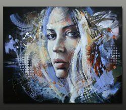 """"""" Illuminate """" is een origineel hand geschilderd Acrylschilderij op canvasdoek van Galya Bukova (Bulgarije) 60 cm x 50 cm . Het werk is voorzien van een certificaat van echtheid en gesigneerd aan de voorzijde .Varnished with UV finish. € 239,-"""