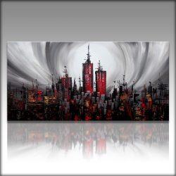 """City at Night"" Acyrlschilderij 120 cm 60 cm , €189,-"