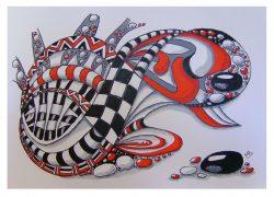 Doodle  , 50 cm x 40 cm € 169,-